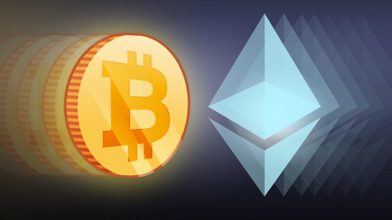 btc and eth - Ethereum растет быстрее Bitcoin